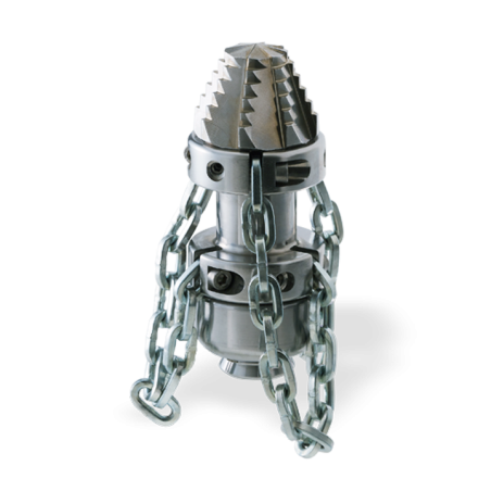 "Tobera  ROTATIVA Cabeza Perforadora con CADENAS 1"" (70x180) mm."