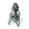 "Tobera  ROTATIVA Cabeza Perforadora con CADENAS 1"" (55x135) mm."