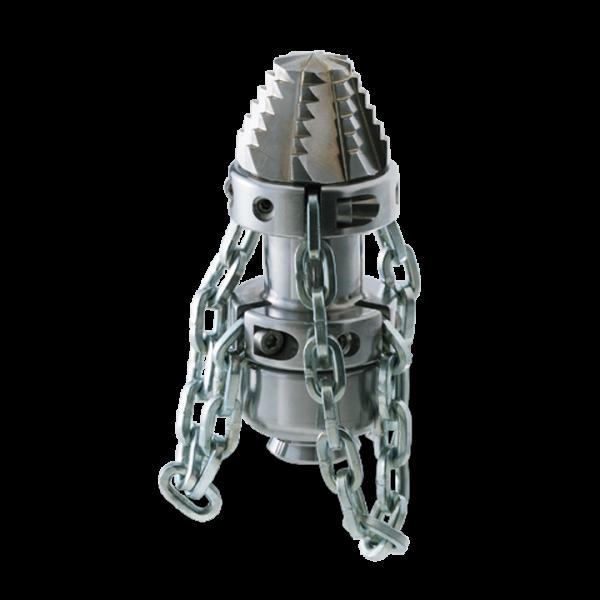 "Tobera  ROTATIVA Cabeza Perforadora con CADENAS 3/4"" (55x135)mm"